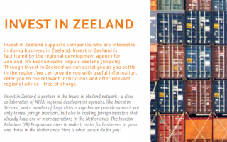 Flyer Investor Relations Invest in Zeeland